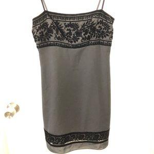 Vintage Black Dress with Velvet detail